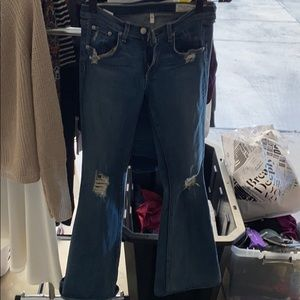 Rag and Bone Flare Distressed Jeans